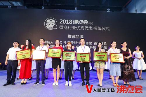 白海豚科技荣获第八届中国微商博览会定制旅游类品牌奖